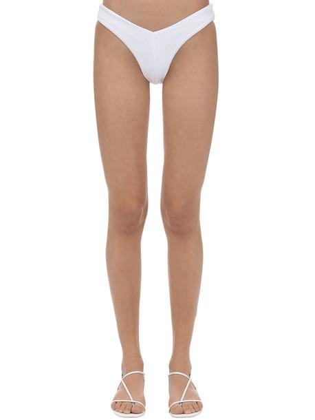 FELLA SWIM Chad Textured Lycra Bikini Bottoms in white