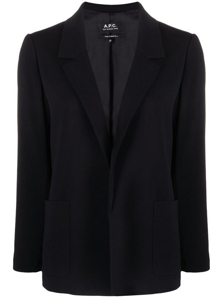 A.P.C. A.P.C. open-front blazer - Black