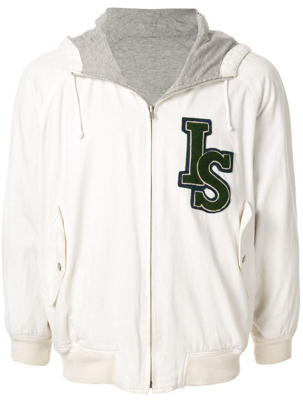 Issey Miyake Pre-Owned 1980's Sports Line logo reversible hoodie in white