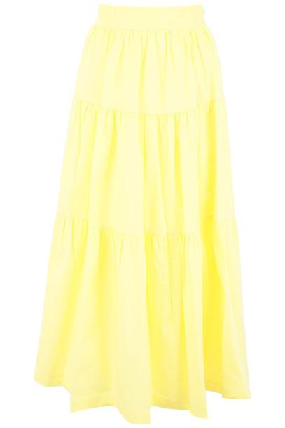 STAUD Sea Skirt in yellow