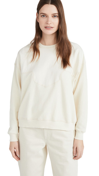 THE GREAT. THE GREAT. The Western Slouch Sweatshirt in white