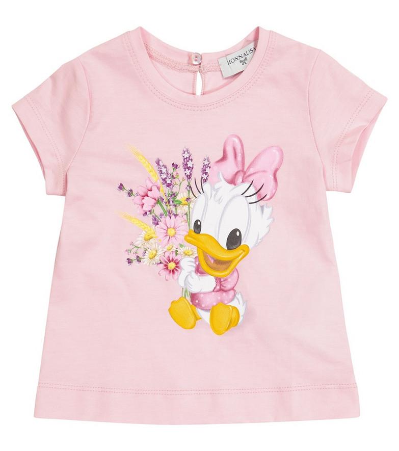 Monnalisa x Disney® Baby cotton T-shirt in pink
