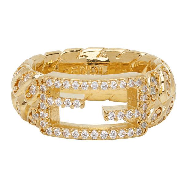 Fendi Gold Logo Ring