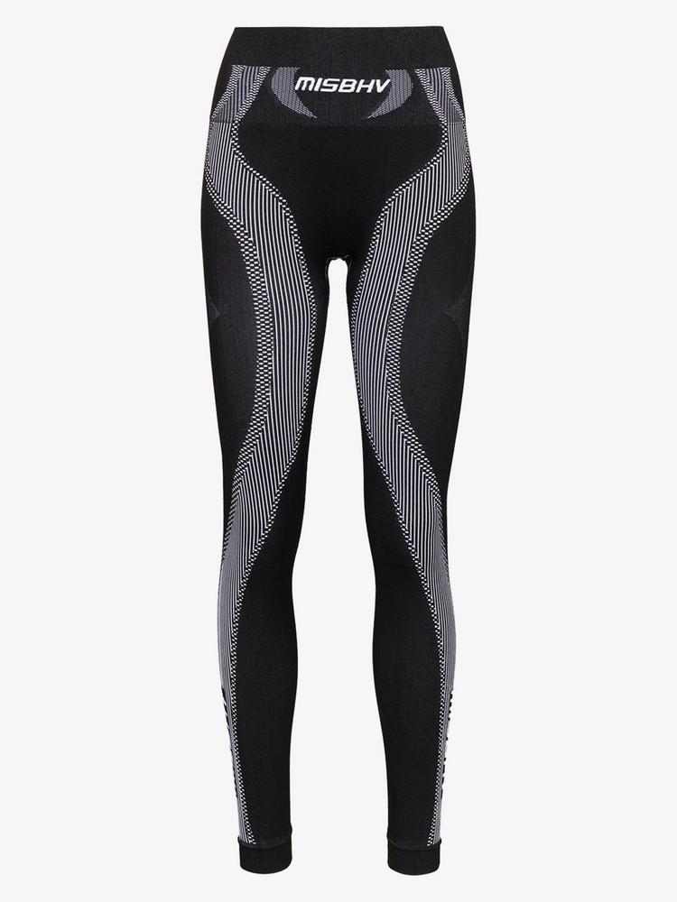 MISBHV sport active wear knit leggings in black