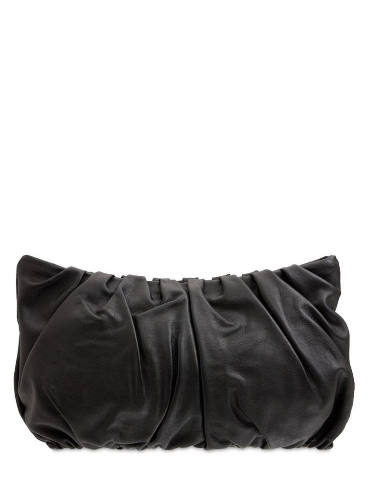 STAUD Large Bean Nappa Leather Shoulder Bag in black