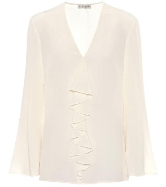 Etro Silk-crêpe blouse in white