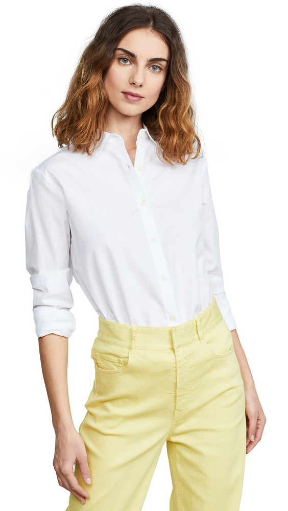 KULE Button Down Shirt in white