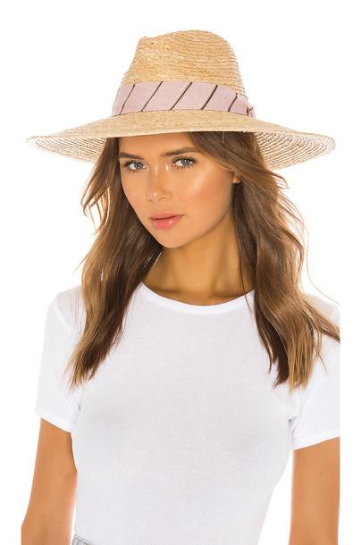 Rag & Bone Sewn Straw Panama Hat in tan