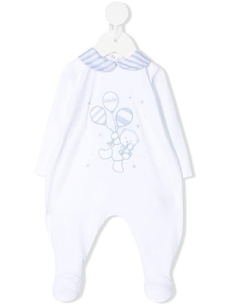 Le Bebé Enfant two-tone embroidered romper - White