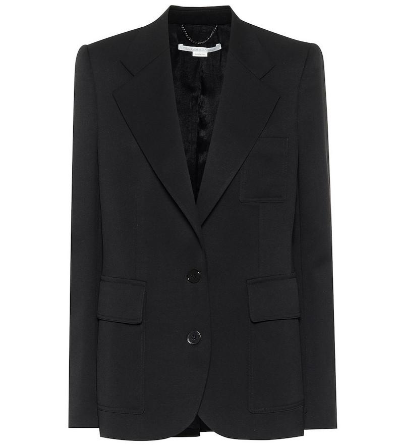 Stella McCartney Briana stretch-wool blazer in black