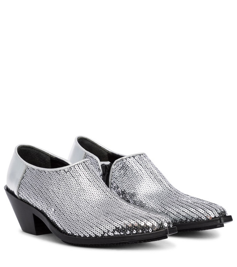 Junya Watanabe Sequined ankle boots in silver