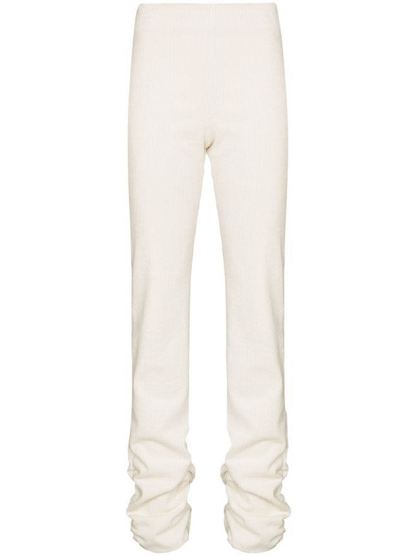 Danielle Guizio ruched hem leggings in white
