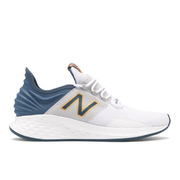 New Balance Fresh Foam Roav Men's Neutral Cushioned Shoes - White/Blue/Yellow (MROAVYE)