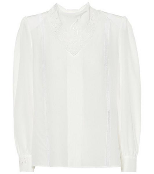 Fendi Silk blouse in white