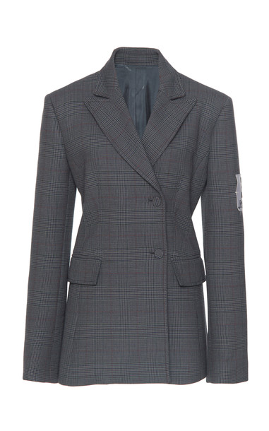 Off-White c/o Virgil Abloh Prince De Galles Double Breasted Blazer in grey