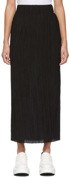 by Malene Birger Pleated Remano Skirt in black