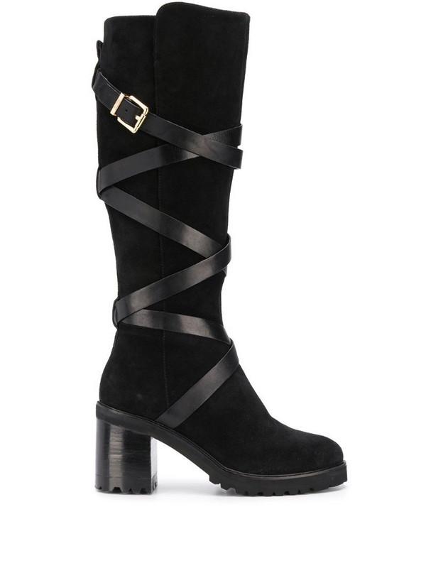 Steffen Schraut buckled chunky-heel boots in black