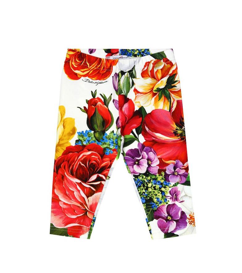 Dolce & Gabbana Kids Baby floral stretch-cotton leggings