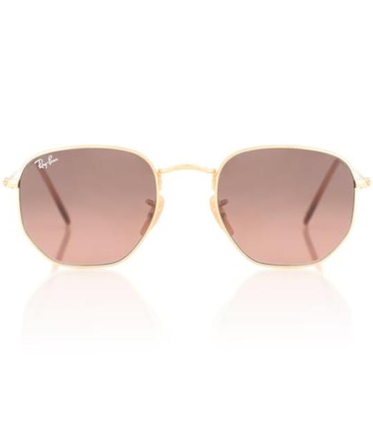 Ray-Ban RB3548N Hexagonal Flat sunglasses in pink