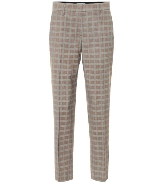 Prada Mid-rise wool-blend straight pants in beige