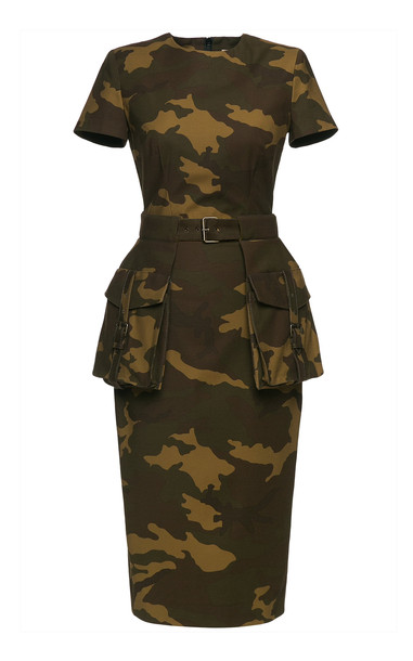 Lena Hoschek Marshal Camouflage Linen Dress Size: M in print