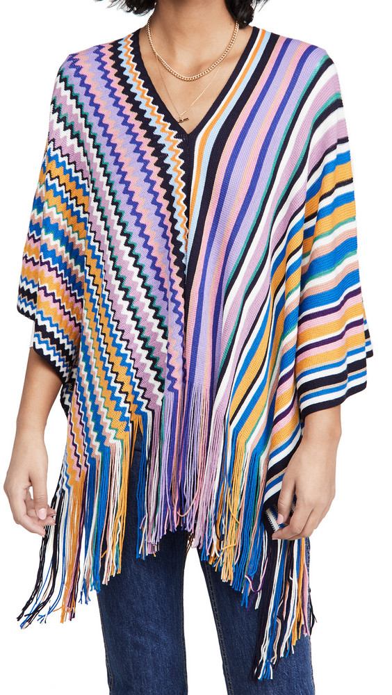 Missoni Poncho Stripe & Zigzag Prints in purple / multi