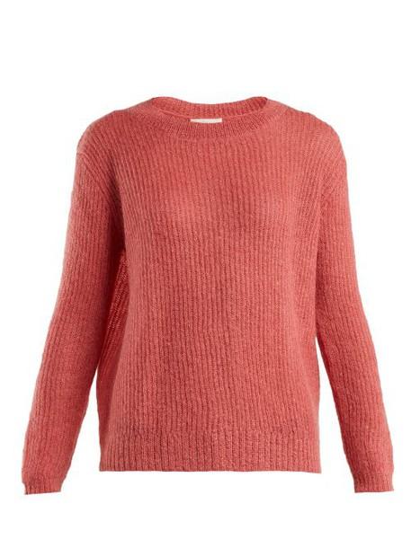 Masscob - Flo Dropped Shoulder Mohair Blend Sweater - Womens - Pink