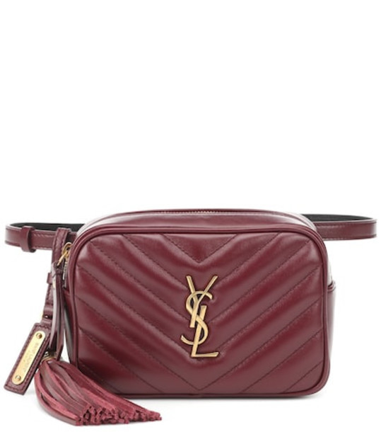 Saint Laurent Lou leather belt bag in red