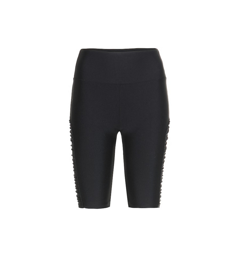 Lanston Sport Delta nylon biker shorts in black