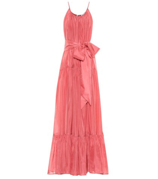 Kalita Genevieve silk maxi dress in pink
