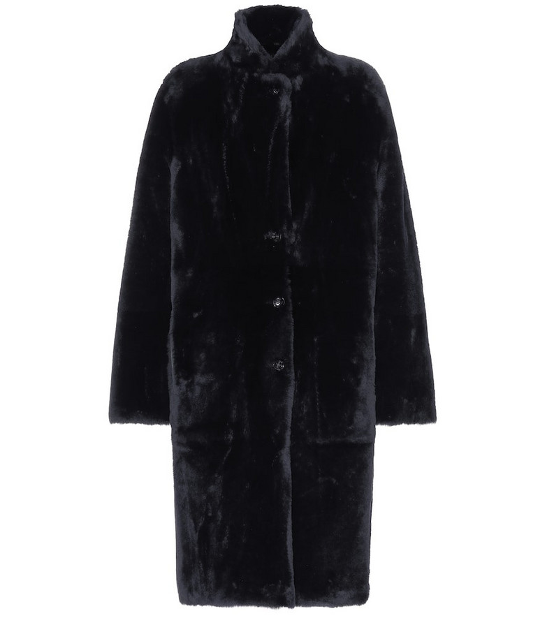 Joseph Brittany reversible shearling coat in blue