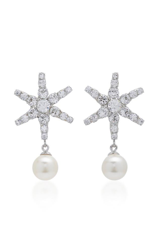 Jennifer Behr Silver-Tone, Crystal And Pearl Earrings in metallic