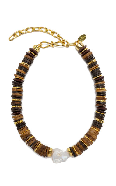 Lizzie Fortunato Bilbao Collar Necklace in brown