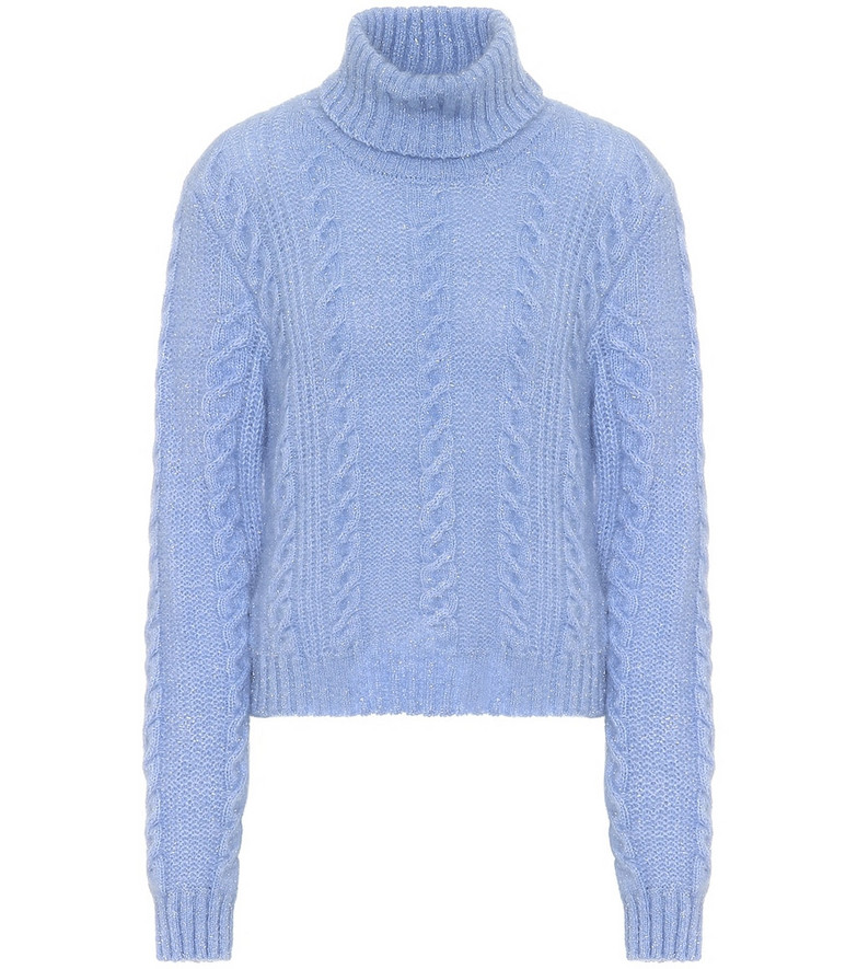 Versace Exclusive to Mytheresa – Wool-blend sweater in blue