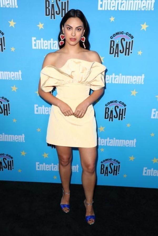 skirt top strapless camila mendes celebrity mini skirt