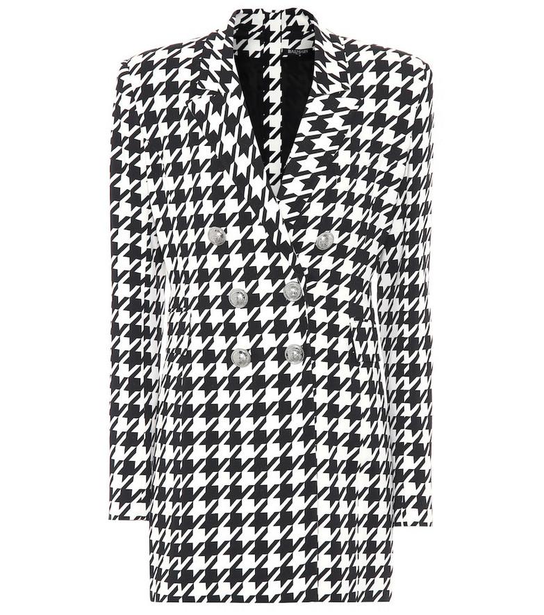 Balmain Houndstooth blazer minidress in black