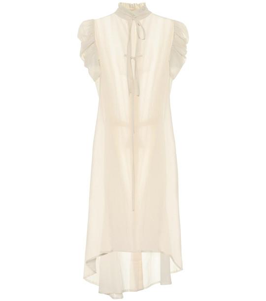 Ann Demeulemeester Cotton midi dress in beige