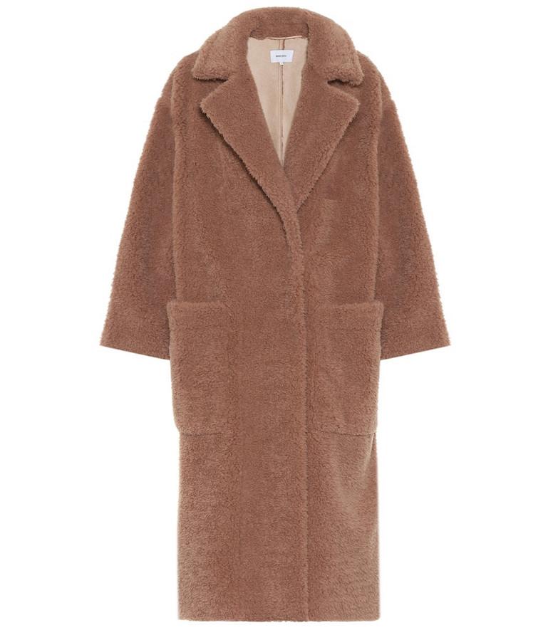 Nanushka Imogen faux fur coat in brown