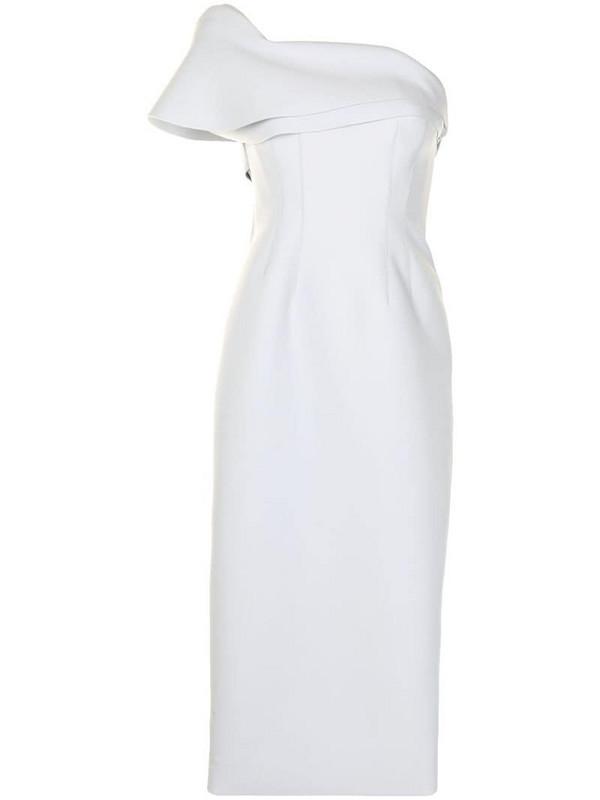 Rachel Gilbert Drew one-shoulder gown in grey