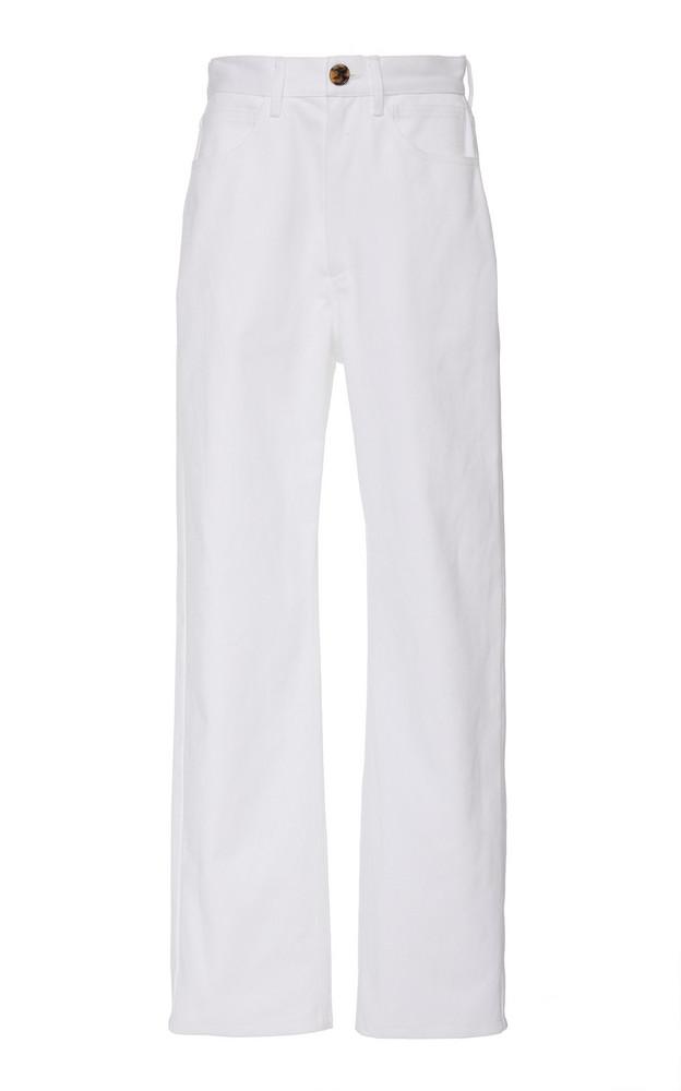 Mara Hoffman Fontana High-Rise Straight-Leg Jeans Size: 2 in white