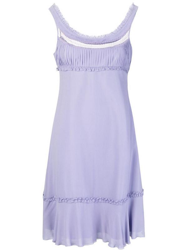 Giorgio Armani Pre-Owned empire line short dress in pink