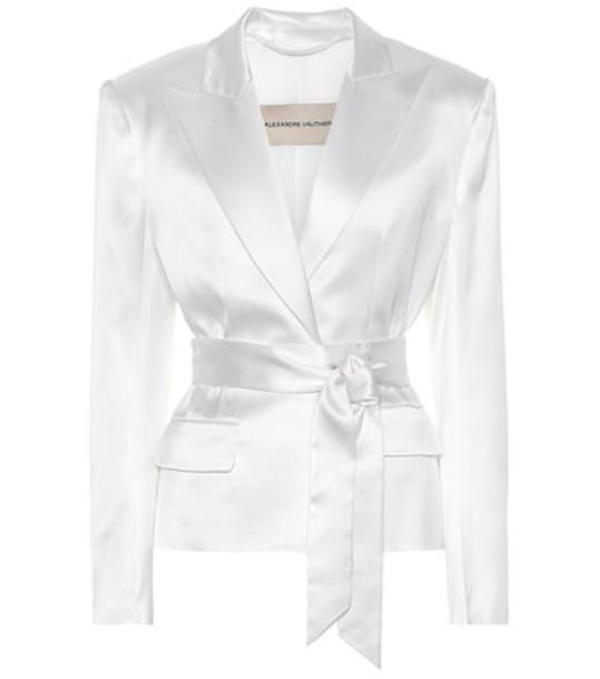 Alexandre Vauthier Satin blazer in white