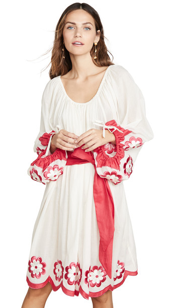 Innika Choo Frida Burds Dress in cream