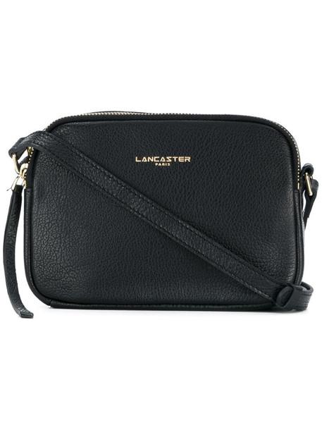 Lancaster logo necessaire shoulder bag in black