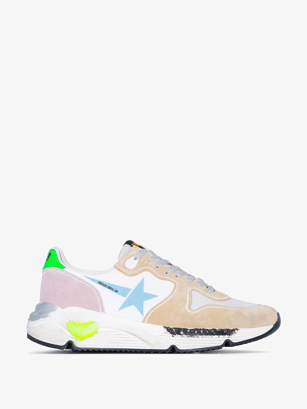 Golden Goose Deluxe Brand Golden Goose Multicoloured Running sole suede leather sneakers in blue / white