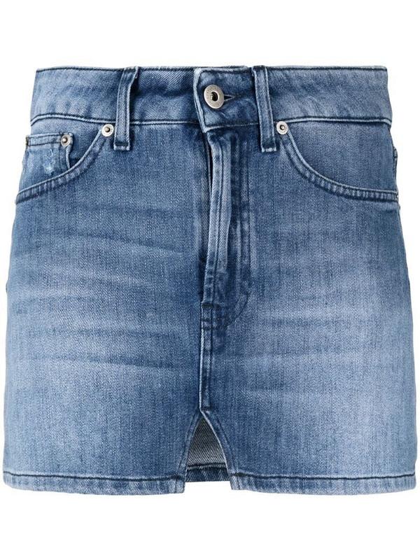Dondup denim mini skirt in blue