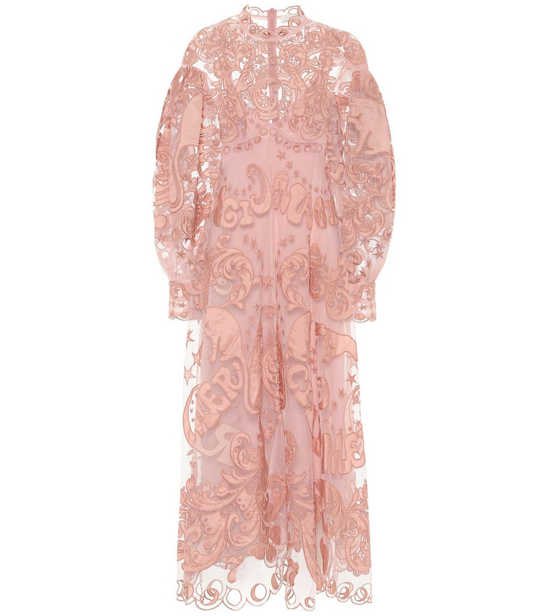 Zimmermann Ladybeetle Fortune tulle maxi dress in pink