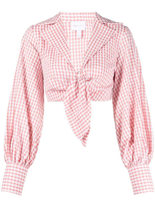 Alice McCall Her Story gingham top in pink