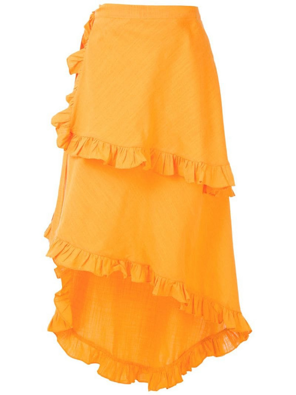 Clube Bossa Feine midi skirt in orange