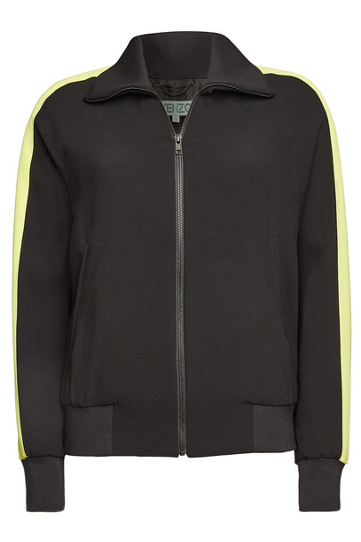 Kenzo Zip Jacket with Back Embroidery  in black